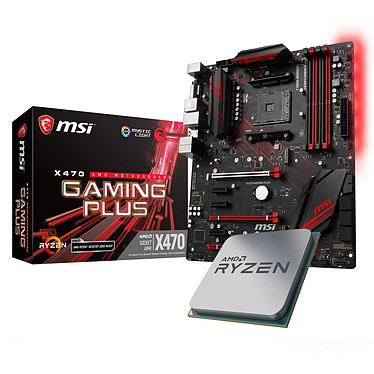 Kit Upgrade PC AMD Ryzen 5 2600X MSI X470 GAMING PLUS