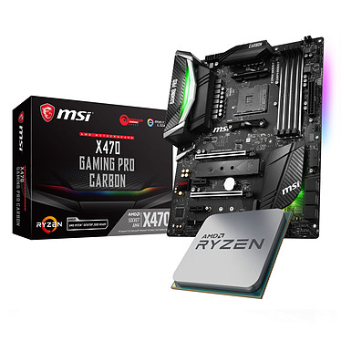 Kit Upgrade PC AMD Ryzen 7 2700X MSI X470 GAMING PRO CARBON Carte mère ATX Socket AM4 AMD X470 + CPU AMD Ryzen 7 2700X (3.7 GHz)