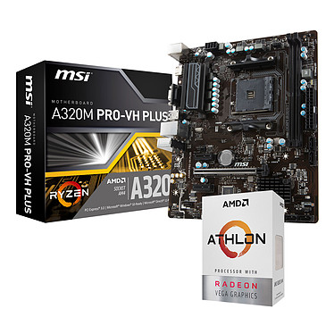 Kit Upgrade PC AMD Athlon 200GE MSI A320M PRO-VH PLUS