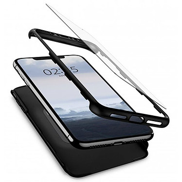 Spigen Thin Fit 360 + Vitre de protection Noir iPhone Xs Max pas cher