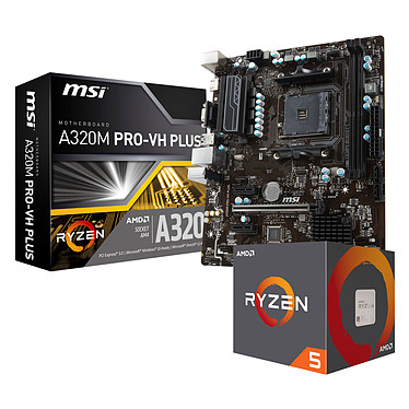 Kit Upgrade PC AMD Ryzen 5 1600 MSI A320M PRO-VH PLUS
