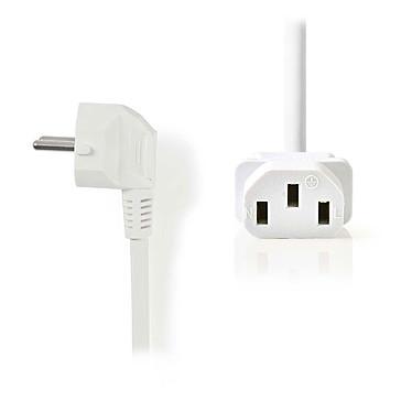 Nedis Câble d'alimentation pour PC, moniteur et onduleur blanc - 2 mètres