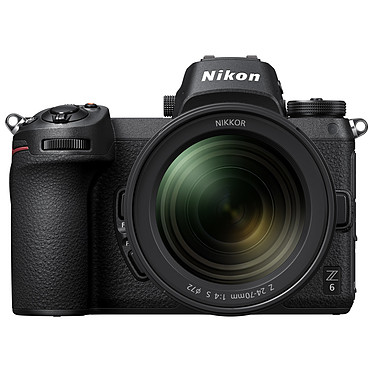 "Nikon Z 6 + 24-70mm f/4 S Appareil photo hybride plein format 24.5 MP - 51 200 ISO - Ecran 3.2"" tactile inclinable - Viseur OLED - Vidéo Ultra HD - Wi-Fi/Bluetooth + Objectif 24-70 mm f/4 plein format - Article jamais utilisé, garantie 6 mois"