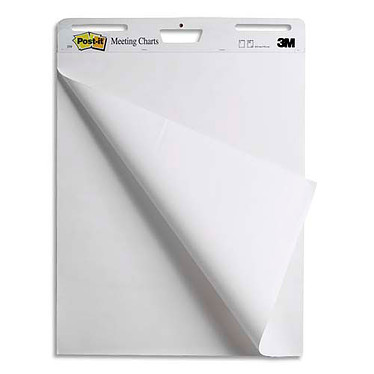 Post-it Lot de 2 Meeting Charts 635 mm x 775 mm + 1 OFFERT ! Pack de 2 lots de 30 feuillets 635 mm x 775 mm Blanc + 1 OFFERT !