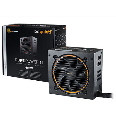 be quiet! Pure Power 11 600W CM 80PLUS Gold Alimentation modulaire 600W ATX 12V 2.4 (Garantie 5 ans constructeur) - 80PLUS Gold