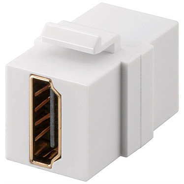 Goobay Acoplador HDMI para caja de red Keystone Acoplador HDMI hembra / HDMI hembra para caja tipo Keystone