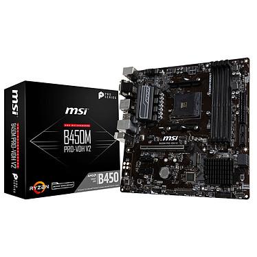 MSI B450M PRO-VDH V2 Carte mère Micro ATX Socket AM4 AMD B450 - 4x DDR4 - SATA 6Gb/s + M.2 - USB 3.0 - 1x PCI-Express 3.0 16x