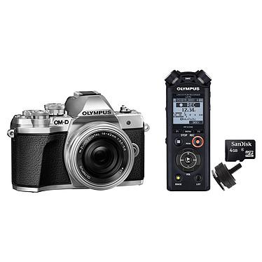Olympus E-M10 MK III Argent + 14-42mm EZ Pancake + Olympus LS-P2 + Adaptateur Flash + Carte MicroSD 4 Go