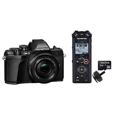 Olympus E-M10 MK III Noir + 14-42mm EZ Pancake + Olympus LS-P2 + Adaptateur Flash + Carte MicroSD 4 Go