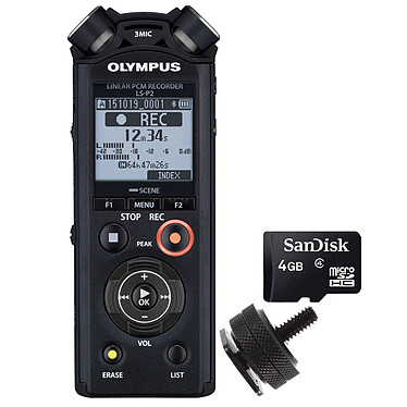 Acheter Olympus E-M10 MK III Noir + 14-42mm EZ Pancake + Olympus LS-P2 + Adaptateur Flash + Carte MicroSD 4 Go