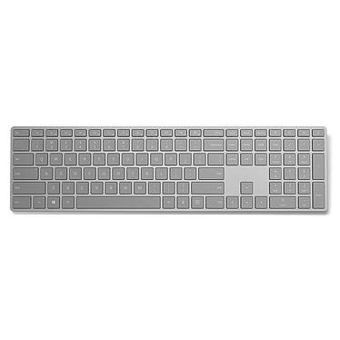 Microsoft Modern Keyboard Fingerprint ID Clavier sans fil Bluetooth avec lecteur d'empreintes digitales (AZERTY, Français)