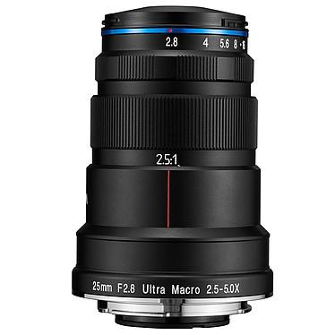 Laowa 25mm f/2.8 2.5-5X Ultra Macro Sony FE Objectif ultra macro avec grossissement 2.5-5:1 et focus manuel pour Sony FE