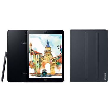 """Samsung Galaxy Tab S3 9.7"""" SM-T820 32 Go Noir + Book Cover EF-BT820 Noir Tablette Internet - Qualcomm Snapdragon 820 Quad-Core 2.15 GHz 4 Go 32 Go 9.7"""" tactile Wi-Fi/Bluetooth/Webcam Android 7.0 + Etui de protection"""