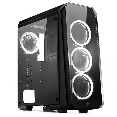 Spirit of Gamer Deathmatch 8 (Blanc) Boîtier Moyen Tour Noir avec fenêtre en verre trempé