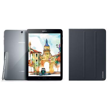 "Samsung Galaxy Tab S3 9.7"" SM-T820 32 Go Argent + Book Cover EF-BT820 Noir"