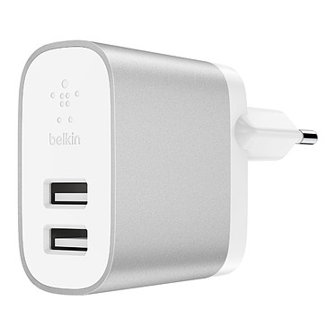 Belkin Chargeur Secteur Boost Charge USB-A (F7U049VFSLV) Chargeur secteur Boost Charge à 2 ports USB-A universels