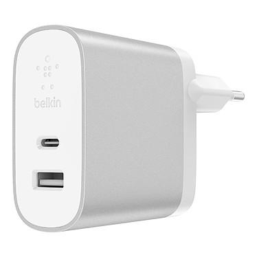 Belkin Chargeur Secteur Boost Charge USB-C/USB-A (F7U061VF-SLV) Chargeur secteur Boost Charge avec port USB-C et USB-A
