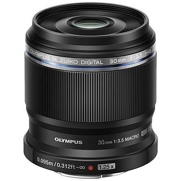 Olympus M.ZUIKO DIGITAL ED 30mm 1:3.5 Macro Noir Objectif hybride macro Micro 4/3