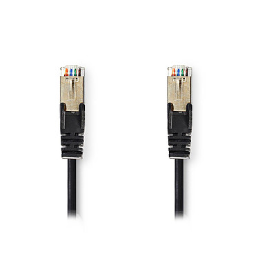 Nedis RJ45 categoría de cable 5e SF/UTP 0,25 m (Negro)