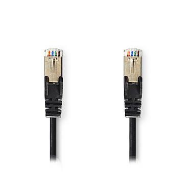 Nedis RJ45 categoría de cable 5e SF/UTP 1 m (Negro) Cat 5e SF/UTP Cable de red RJ45 macho / RJ45 macho - 1 metro