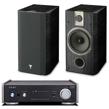 Teac AI-301DA Noir + Focal Chorus 706 Black Ash Amplificateur stéréo de classe D, 2 x 60 Watts avec Bluetooth et USB + Enceinte bibliothèque (par paire)