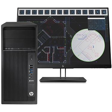 HP Z240 (1WU97ET) + écran HP Z24i G2 (1JS08AT)