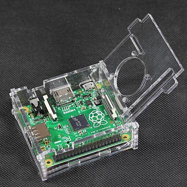 Boitier pour Raspberry Pi 3 A+ avec support Ventilateur (Transparent) pas cher