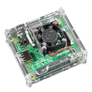 Acheter Boitier pour Raspberry Pi 3 A+ avec support Ventilateur (Transparent)