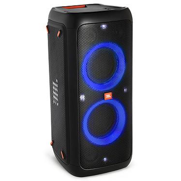 JBL PartyBox 300 Altavoz portátil Bluetooth de 120W con batería integrada, efectos de iluminación, enchufes para micrófono/guitarra, puerto USB y entrada AUX.