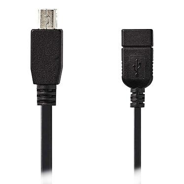 Nedis Cable USB/Mini USB OTG - 0,2 m Cable mini-USB de 5 clavijas a USB 2.0 (macho/hembra) en el camino - 0,2 m