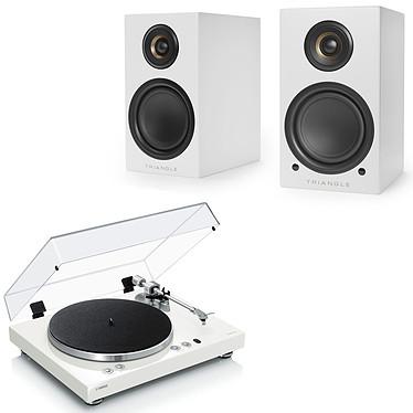 Yamaha MusicCast VINYL 500 Blanc + Triangle Elara LN01A Blanc mat