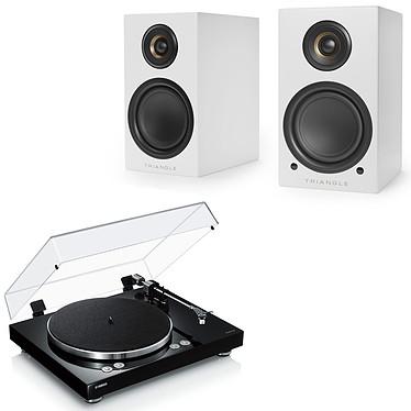 Yamaha MusicCast VINYL 500 Noir + Triangle Elara LN01A Blanc mat