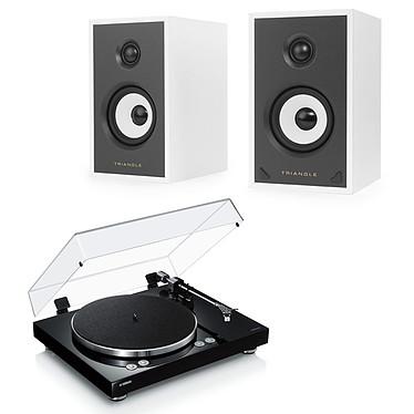 Yamaha MusicCast VINYL 500 Noir + Triangle Sensa SN01A Blanc Mat