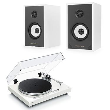 Yamaha MusicCast VINYL 500 Blanc + Triangle Sensa SN01A Blanc Mat