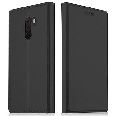 Akashi Etui Folio Porte Carte Noir Xiaomi Pocophone F1 Etui folio avec porte carte pour Xiaomi Pocophone F1