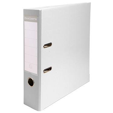 Exacompta Classeur à levier 80mm Blanc Classeur à levier 2 anneaux avec dos de 80mm pour documents A4