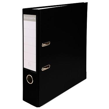Exacompta Archivador de palanca 80mm Negro Ficha arco de palanca 2 anillas con dorso de 80mm para documentos A4