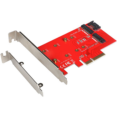 i-tec PCI-E 2x M.2 Card (PCE2M2) Carte contrôleur PCI-Express 3. 4x (1x M.2 SATA III + 1x M.2 PCIe 3.0 x4 NVMe)