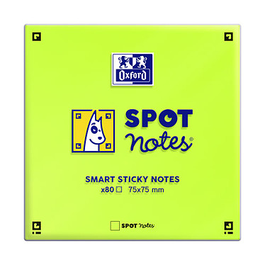 Oxford Spot Notes Blocs pense-bêtes assortis x 6 pas cher