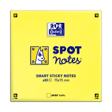 Avis Oxford Spot Notes Blocs pense-bêtes assortis x 6