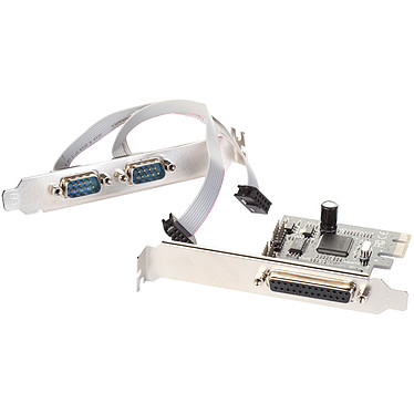 i-tec PCI-Express Card 2x Serial RS232 + 1x Parallel DB25 (PCE2S1) Carte contrôleur PCI-Express 1x avec 1 port parallèle DB 25 et 2 ports série RS-232