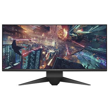 """Alienware 34"""" LED - AW3418DW 3440 x 1440 pixels - 4 ms (gris à gris) - Format large 21/9 - Dalle IPS incurvée - G-SYNC - DisplayPort - HDMI - Hub USB 3.0 - Argent/Noir"""