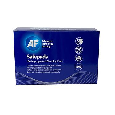 AF Safepads Pack de 100 chiffons papier non pelucheux pré-imprégnés d'alcool isopropylique pur