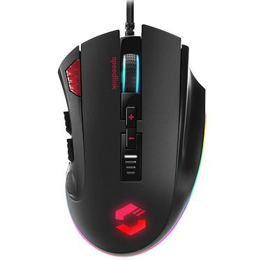 Speedlink Tarios Souris filaire pour gamer - Droitier - Capteur optique 24 000 dpi - 12 boutons programmables - Rétro-éclairage RGB - Poids ajustable