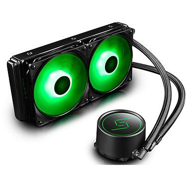 Deepcool Gammaxx L240 RGB Kit de refroidissement liquide tout en un (watercooling) pour processeur Intel / AMD - rétroéclairage RGB