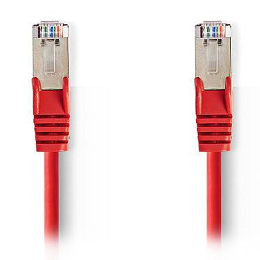 Nedis Câble RJ45 catégorie 5e SF/UTP 2 m (Rouge) Câble Réseau Cat 5e SF/UTP RJ45 Mâle / RJ45 Mâle - 2 mètres