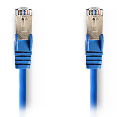 Nedis Câble RJ45 catégorie 5e SF/UTP 1.5 m (Bleu) Câble Réseau Cat 5e SF/UTP RJ45 Mâle / RJ45 Mâle - 1.5 mètre