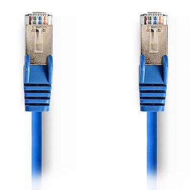 Nedis Câble RJ45 catégorie 5e SF/UTP 0.5 m (Bleu) Câble Réseau Cat 5e SF/UTP RJ45 Mâle / RJ45 Mâle - 0.5 mètre