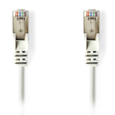 Nedis RJ45 categoría de cable 5e SF/UTP 5 m (Blanco) Cat 5e SF/UTP Cable de red RJ45 macho / RJ45 macho - 5 metros
