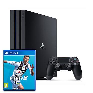 Sony PlayStation 4 Pro (1 To) + FIFA 19 Console de jeux-vidéo Ultra HD 4K avec disque dur 1 To et manette sans fil + jeu FIFA 19